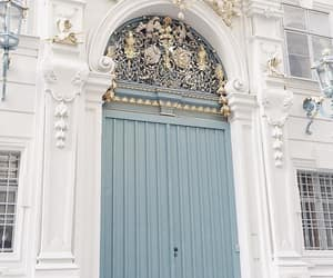 doors, flowers, and place image