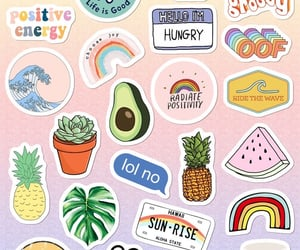aesthetic, stickers, and vibes image
