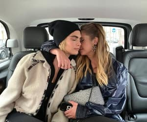 ashley benson, couple, and cara delevingne image