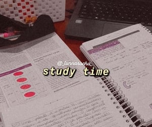 lettering, study, and time image