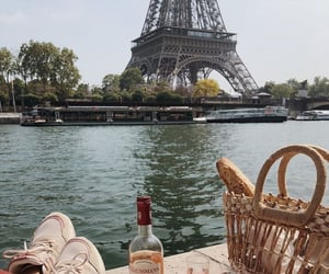 paris, eiffel tower, and food image