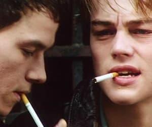 leonardo dicaprio, smoking, and cigarette image