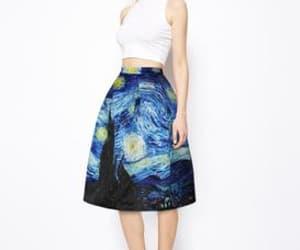 a-line skirt, knee length skirt, and midi skirt image