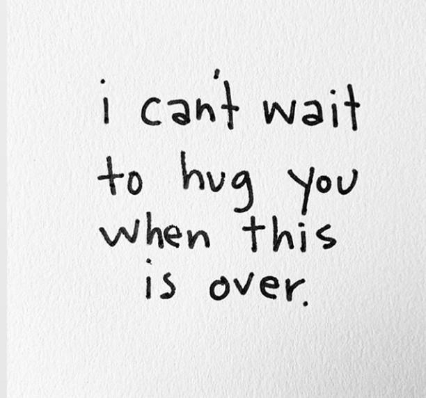 quotes and hug image