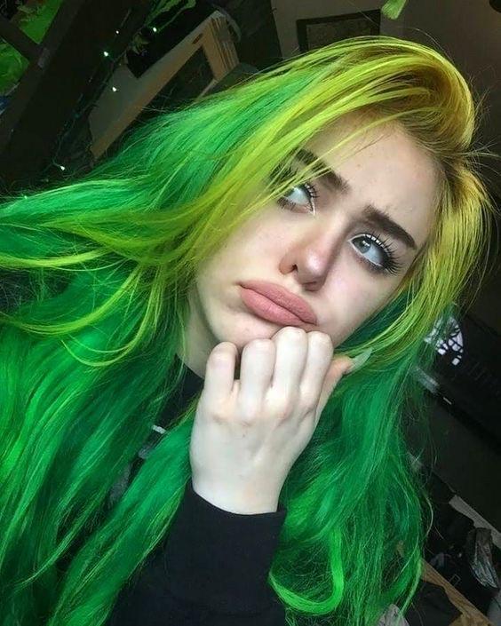 girl, green, and grunge image