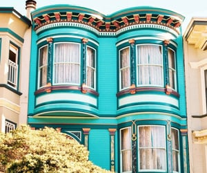 architecture, san francisco, and blue image