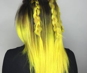 fashion, hairstyles, and yellow image
