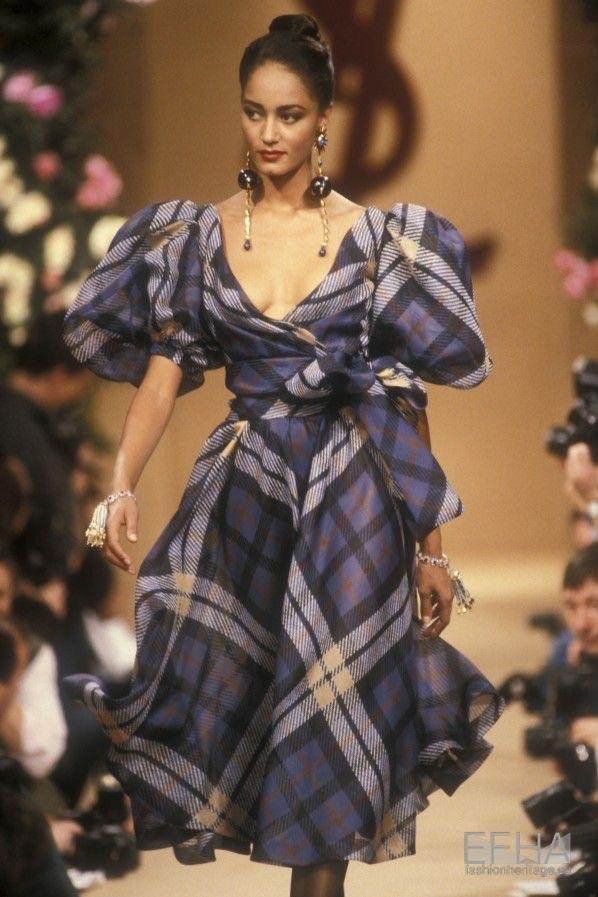 dress, Yves Saint Laurent, and 90' image