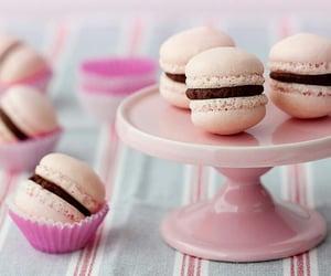 chocolate, dessert, and macarons image