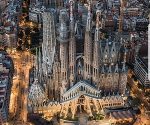 city, spain, and travel image