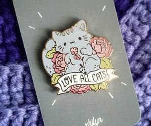 cats, cat pins, and cute pins image