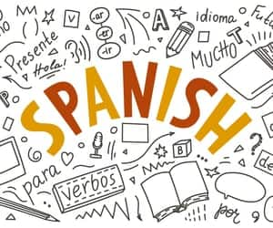 article, spanish, and learning image