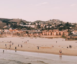 beach, california, and city image