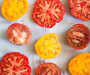 food, yellow, and bell peppers image