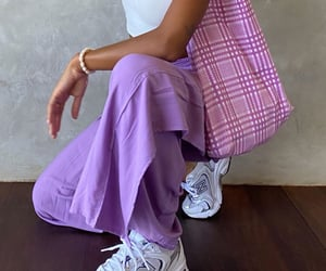 lilac, outfit, and pastel image