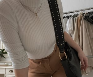 bags, brown, and turtleneck image