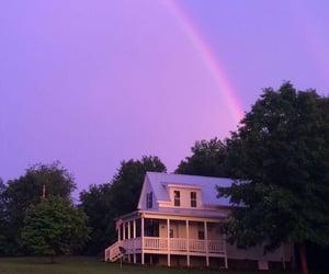 rainbow, purple, and house image