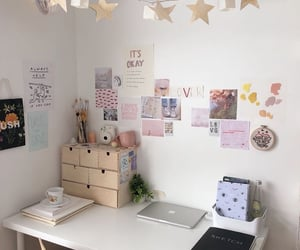 aesthetic, desk, and study image