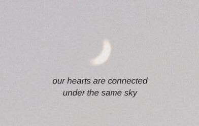 sky, love, and moon image
