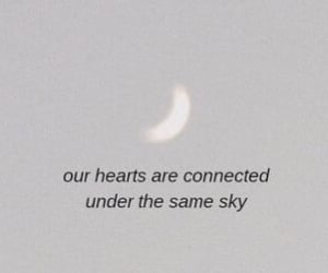 moon, sky, and love image