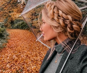 autumn, fall, and braid image
