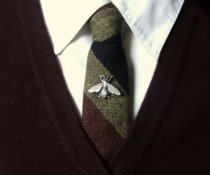 tie, bee, and suit image