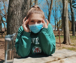 girl, staystrong, and mask image