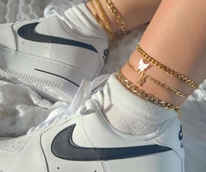 girl, golden, and shoes image