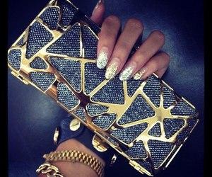 bracelet, purse, and glitter image