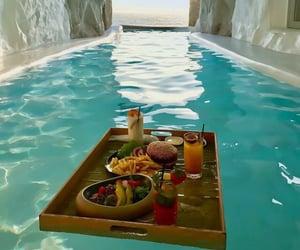 travel, food, and pool image