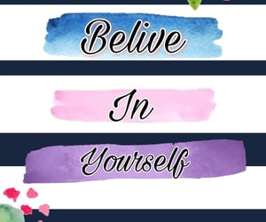 flowers, stripes, and belive in yourself image