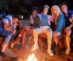 *, 80s, and campfire image