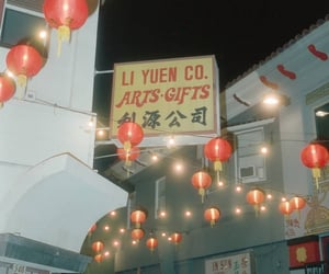 china town, los angeles, and cinestill 800 image