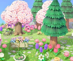 aesthetic, animal crossing, and cherry blossoms image