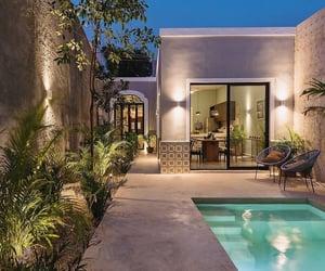 back yard, alberca, and jardín image