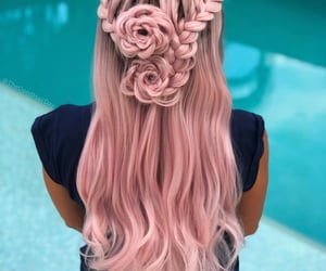 fashion, hairstyles, and pink image