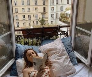 girl, book, and paris image