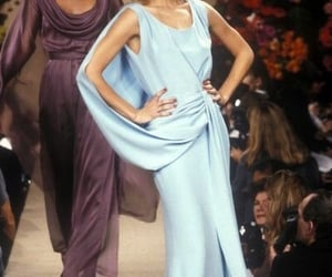 blue, dress, and haute couture image