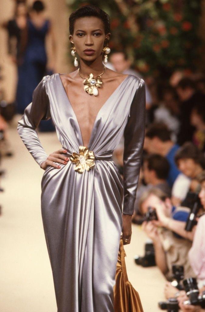 dress, model, and runway image