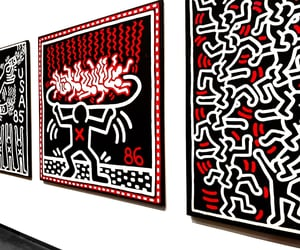 art, keith haring, and black image