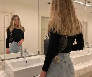 fashion, outfit, and blonde image