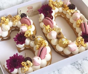 birthday, cake, and flower image