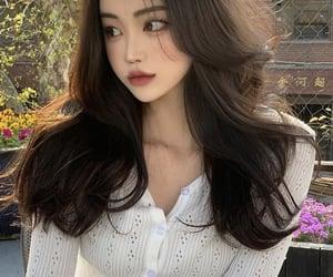 asian fashion, curl, and kfashion image