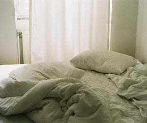 bed, tumblr, and white image