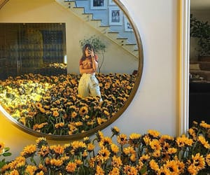 sunflower, kylie jenner, and flowers image