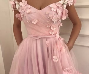 dress, pink, and aesthetic image