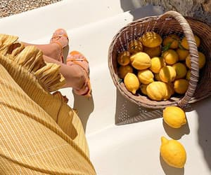 yellow, fruit, and summer image