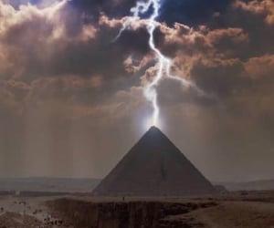 egypt, lightning, and travel image