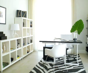 home office, interior design, and workstation image