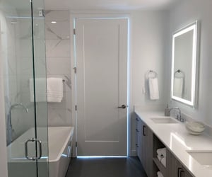 bathrooms, home, and interior design image